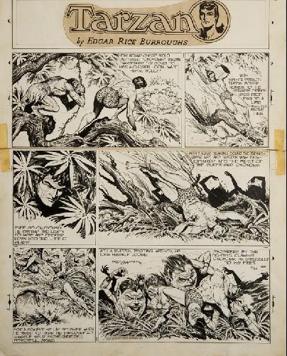 Tarzan! exposition au Quai Branly planche Hogarth