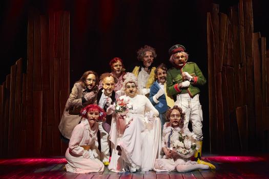 la visite de la vieille dame, théâtre, Malakoff, Durrenmatt, masques